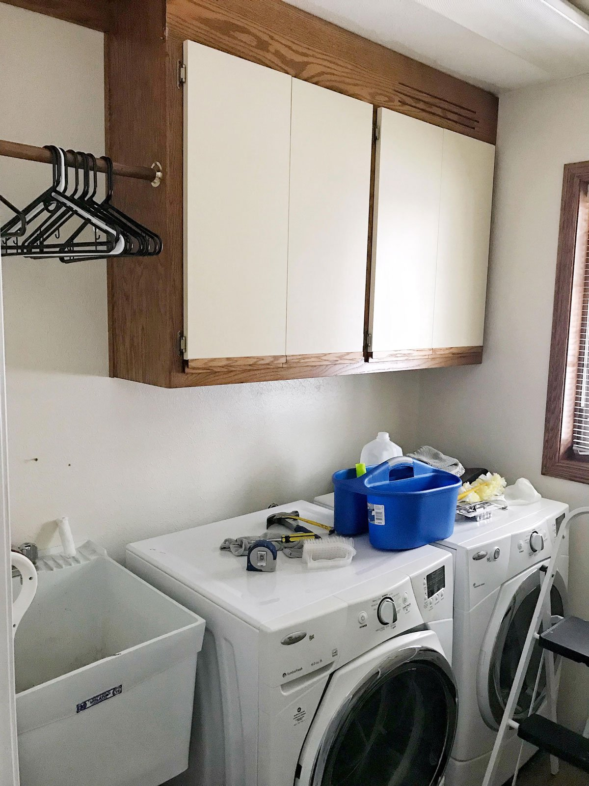 small laundry room before 2