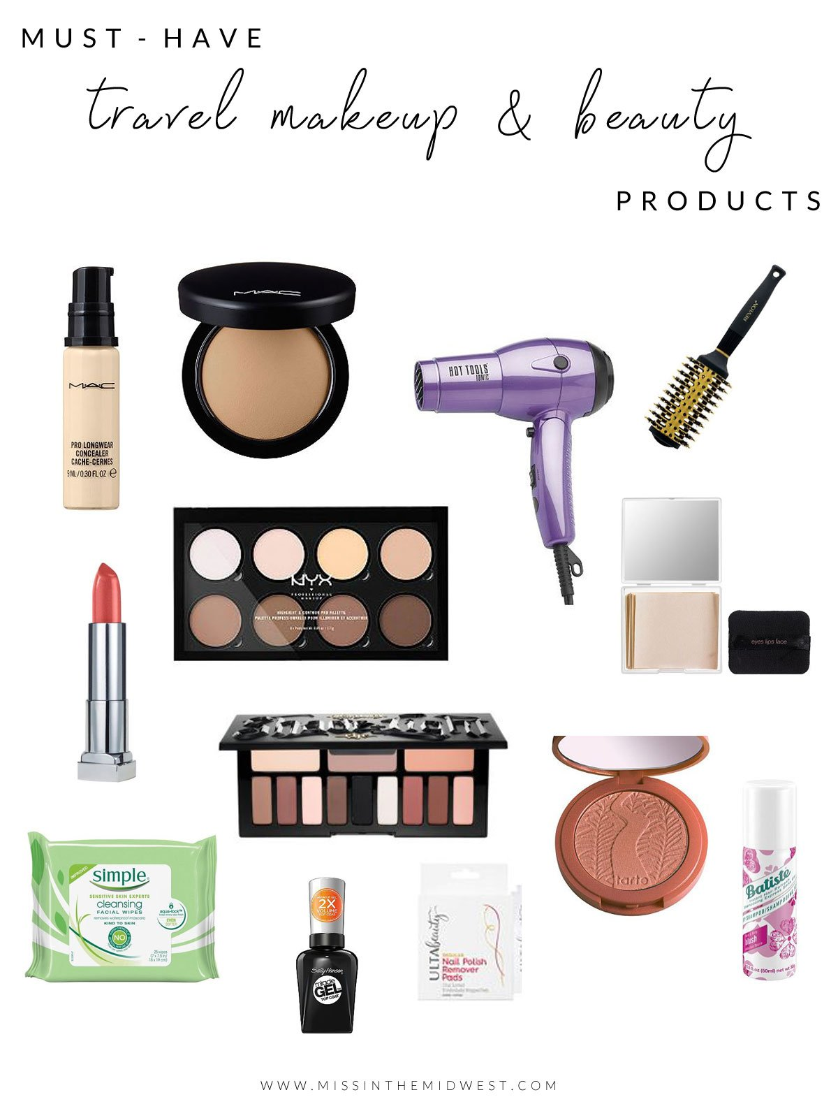 Makeup and Beauty Items I Never Travel Without