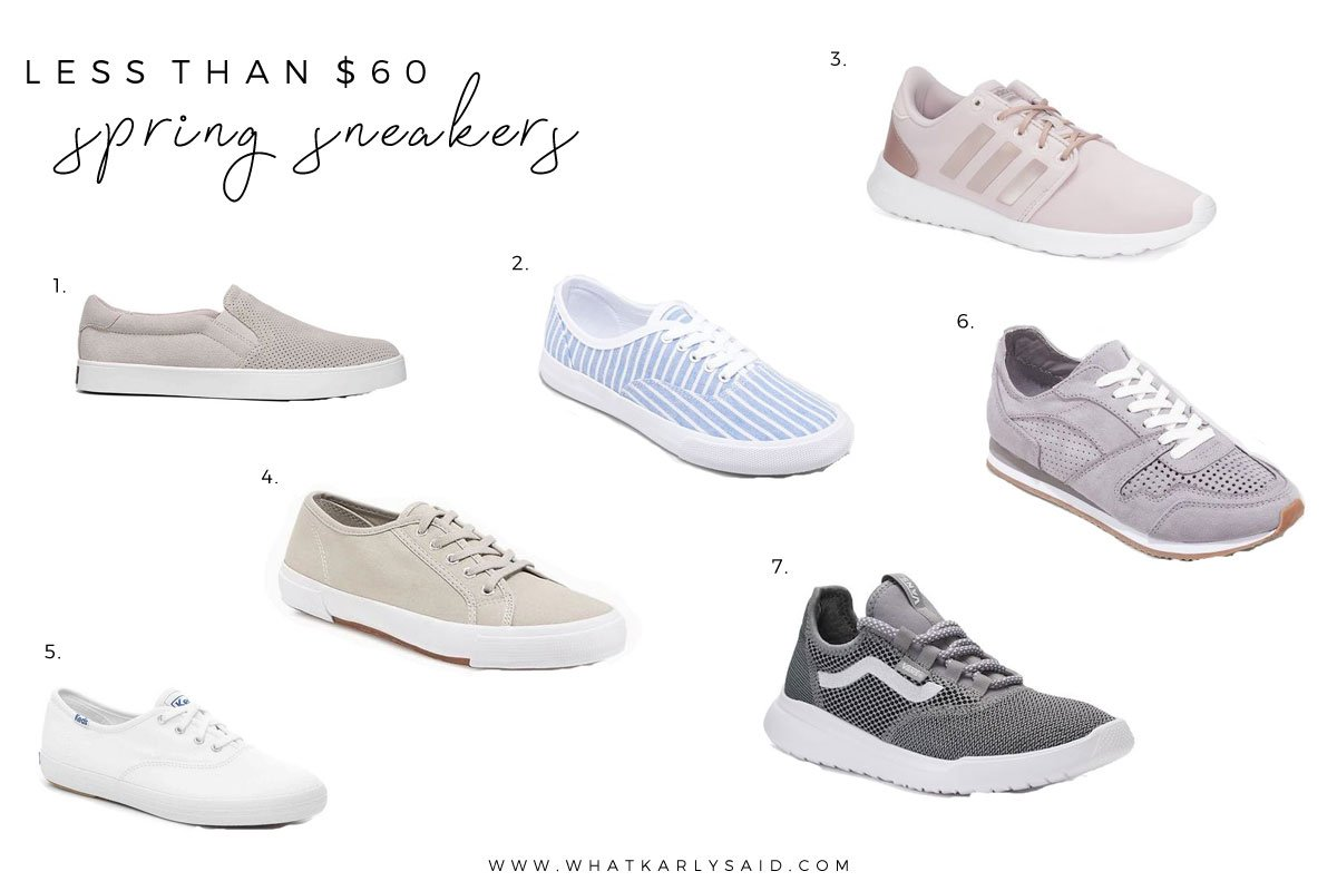 Spring Sneakers Picks for Less Than $60 - What Karly Said