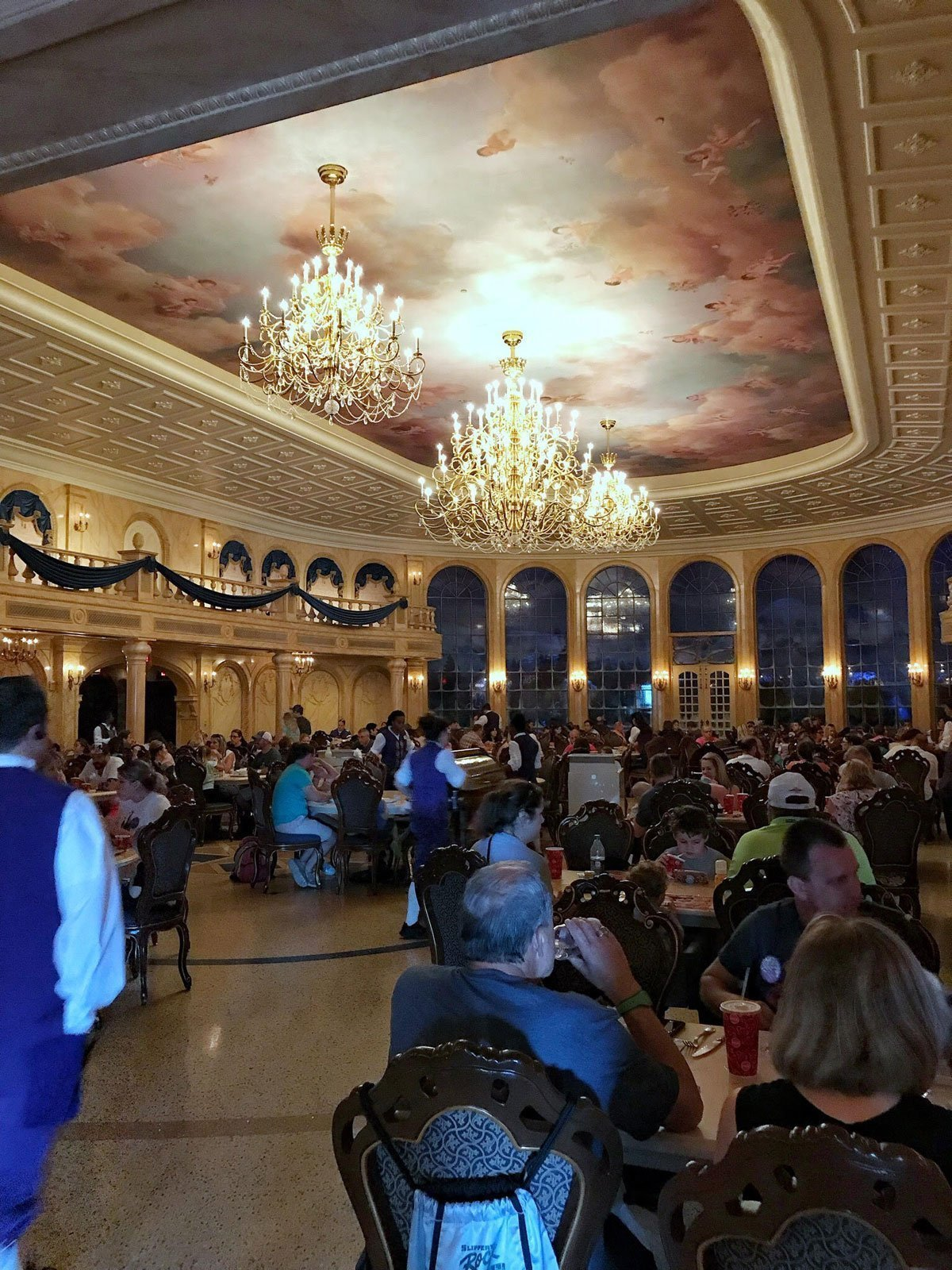 Disney's Magic Kingdom Be Our Guest Restaurant ballroom