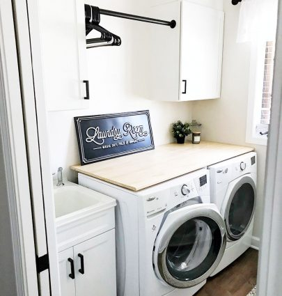 Modern Farmhouse-Inspired Laundry Room Reveal