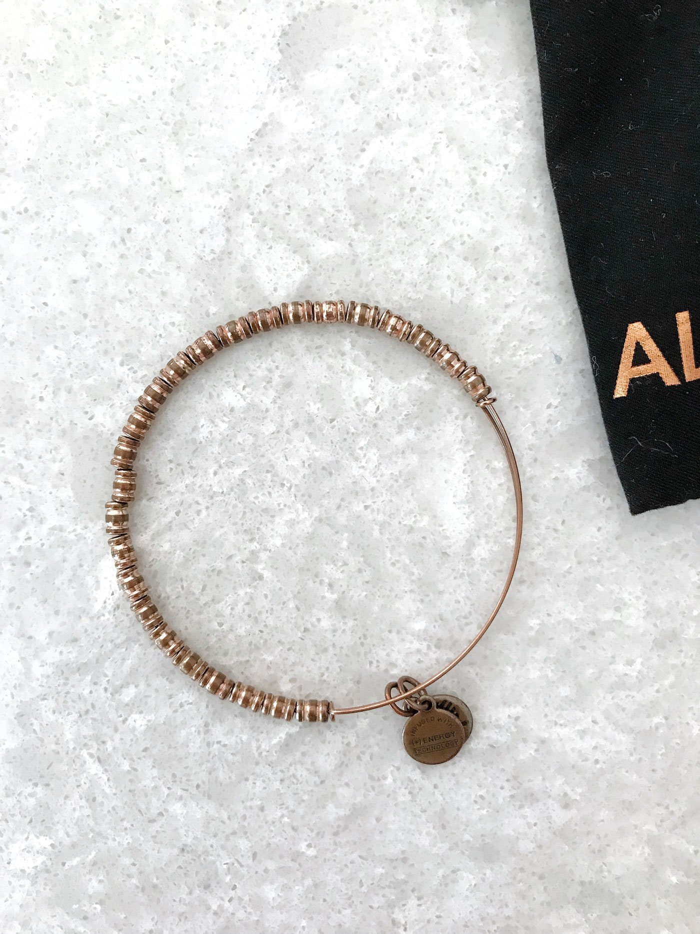 tarnished alex and ani bangle