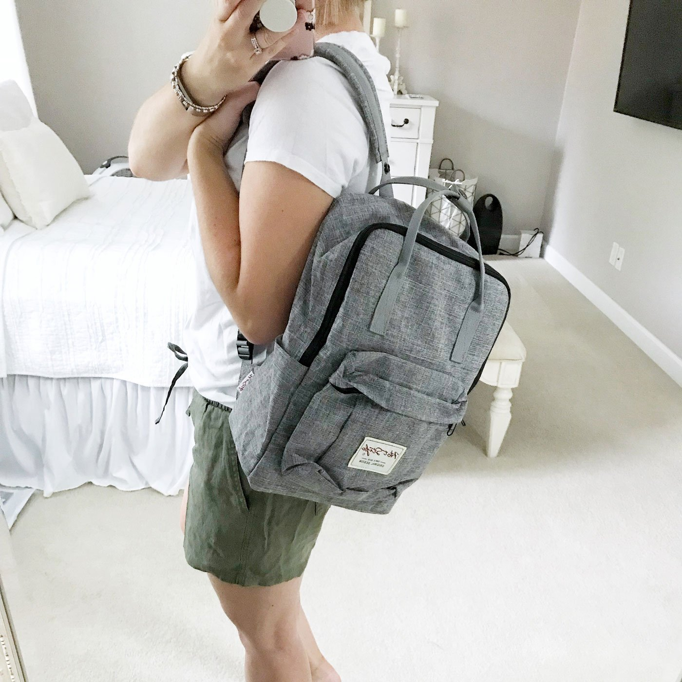amazon style shopping haul hot style brand backpack