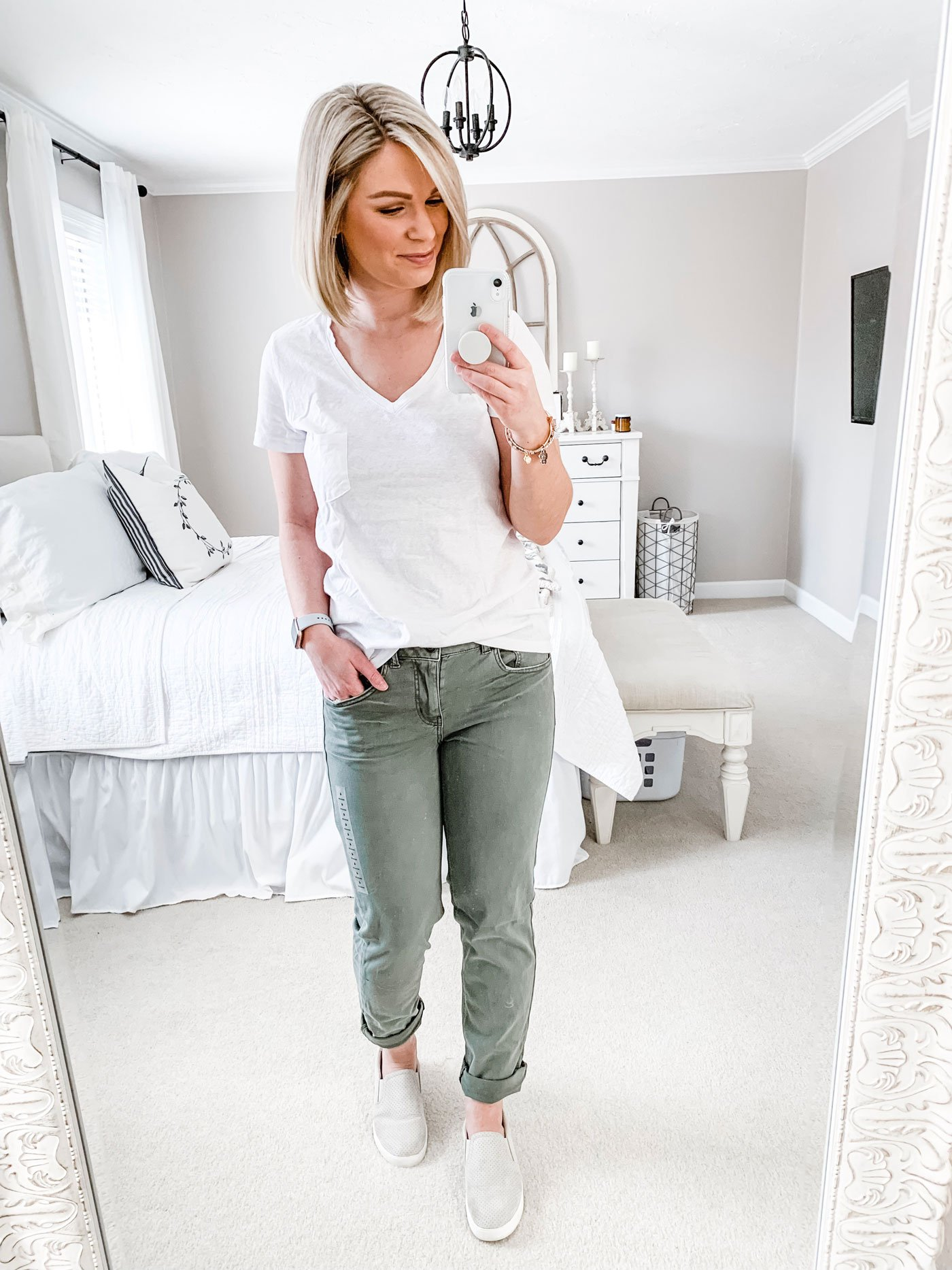 AE Tomgirl pant in softest jade