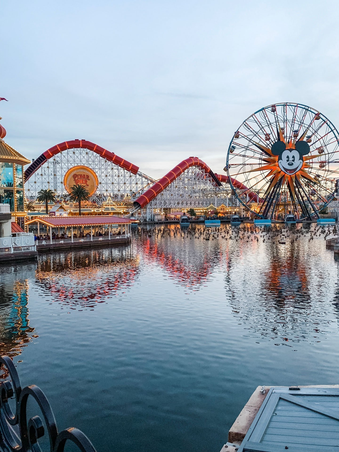 Disney California Adventure Pier at Night