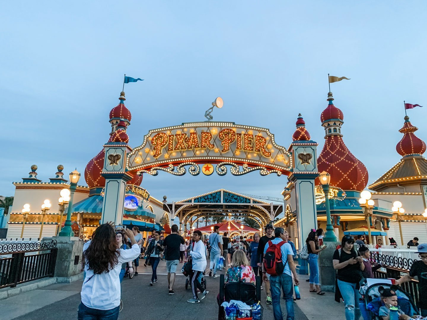 Disney California Adventure Pixar Pier at Night