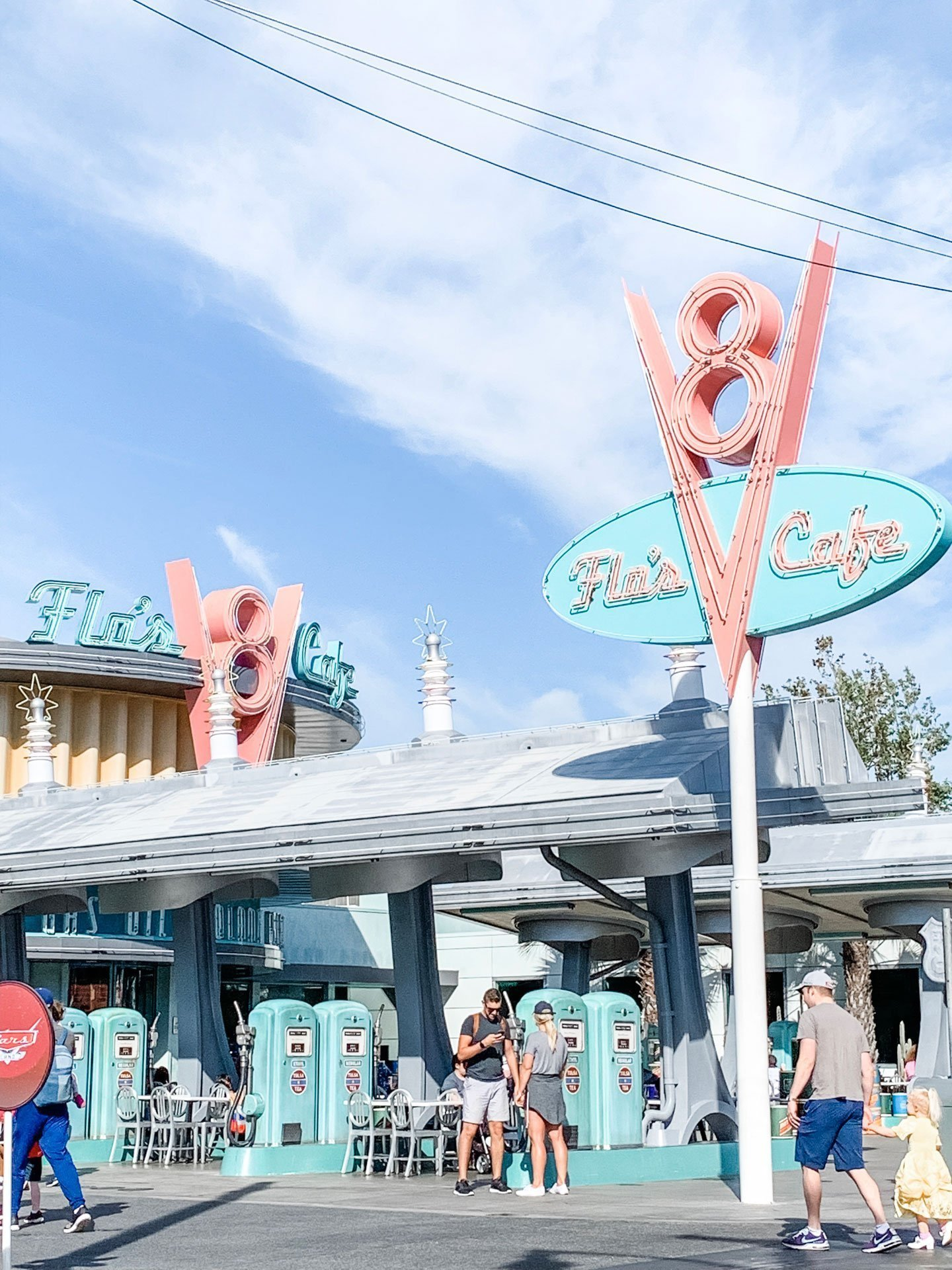 Disney California Adventure Cars Land - Flo's Cafe Sign