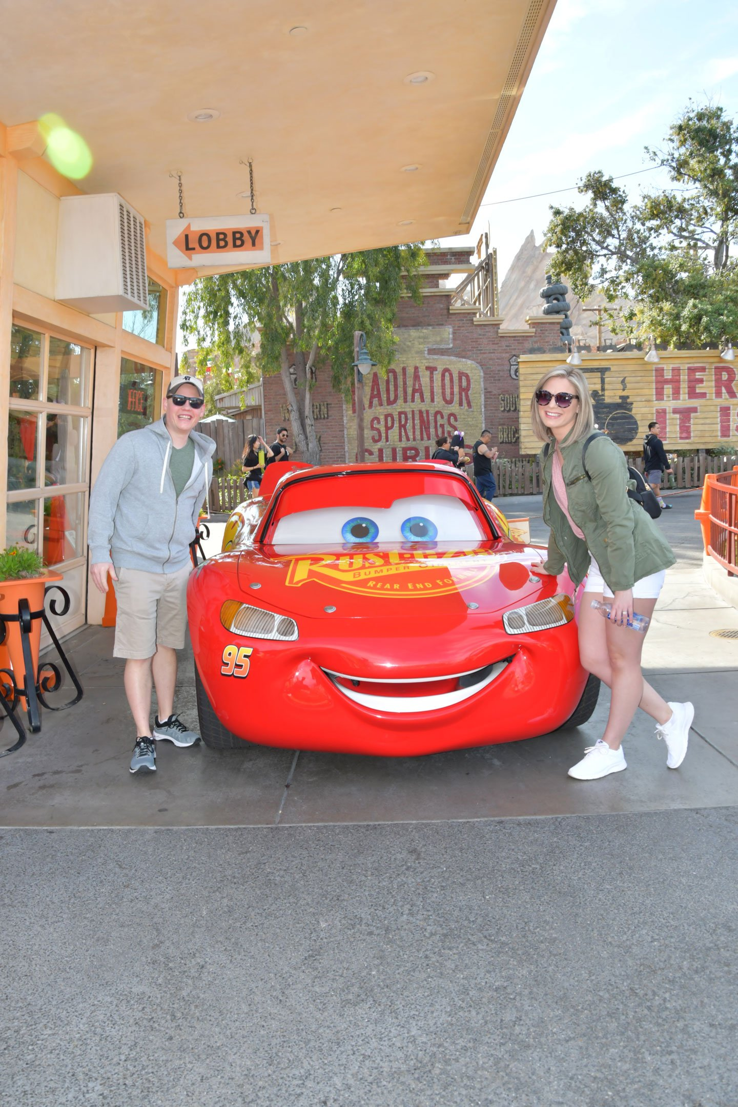 Lightning McQueen at Cars Land at Disney California Adventure