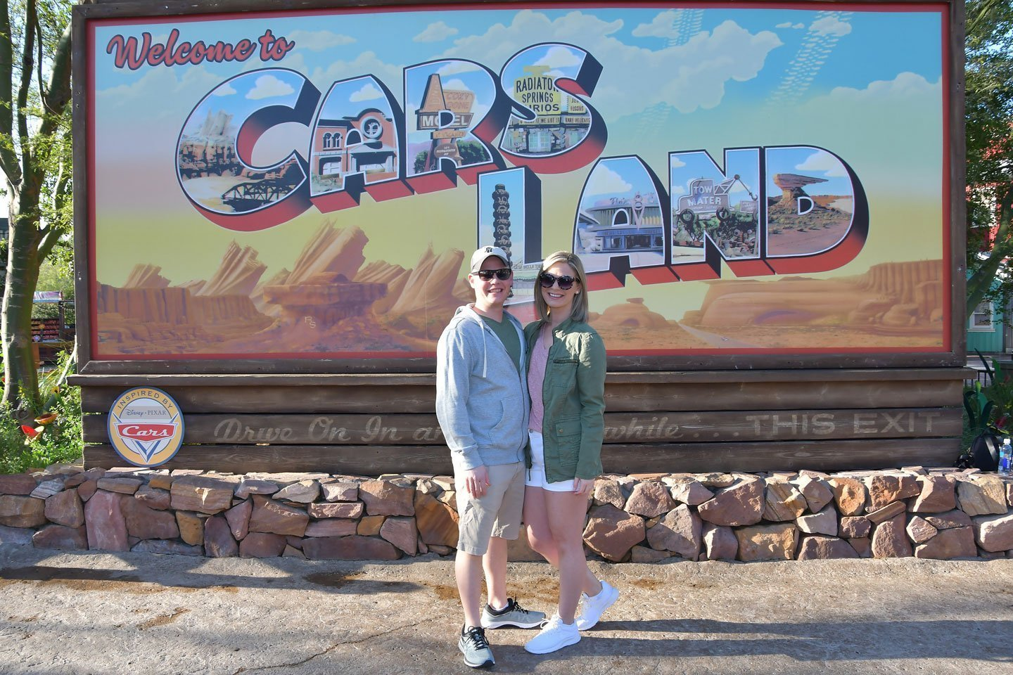 Welcome to Cars Land sign at Disney California Adventure MaxPass photo