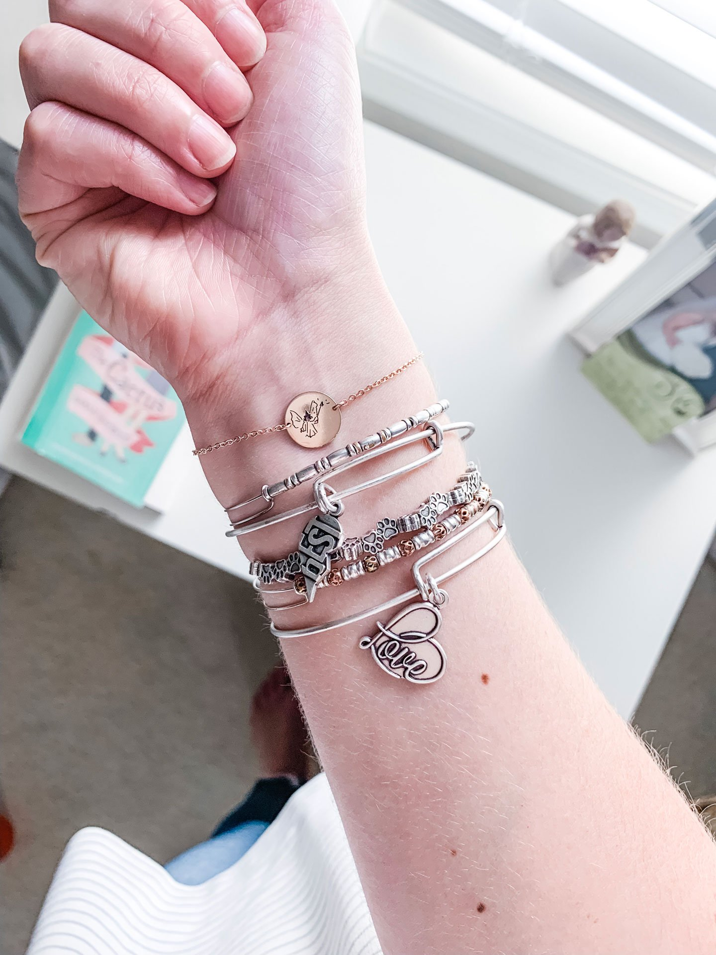 Everyday Alex & Ani Stack