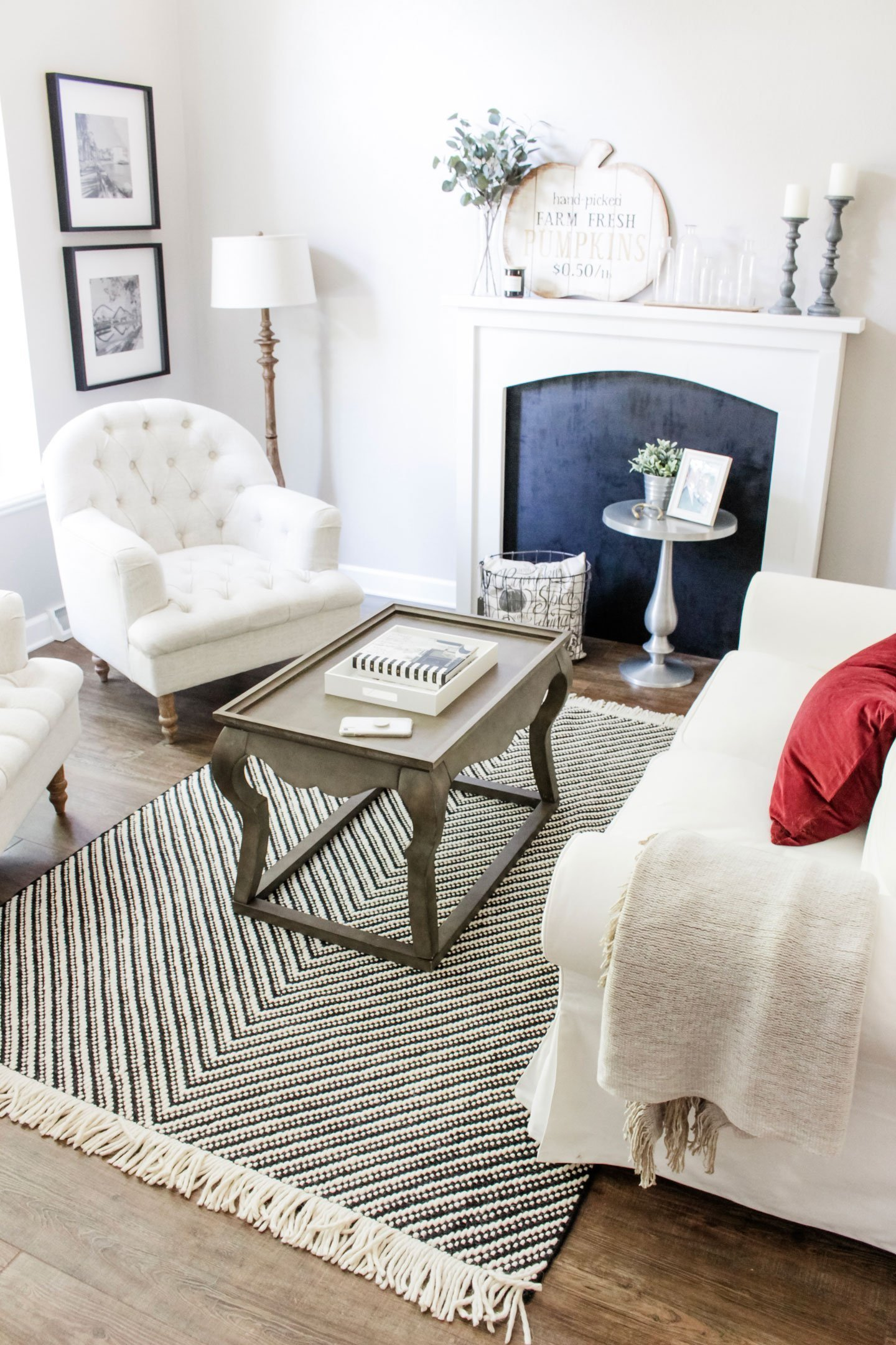 A Small Decor Change That Made a Big Impact_Target Project 62 black and white chevron rug