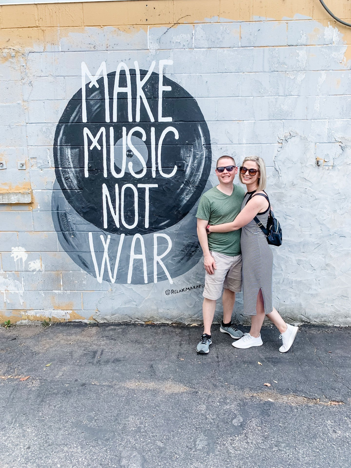 Make Music Not War Mural - 12 South, Nashville