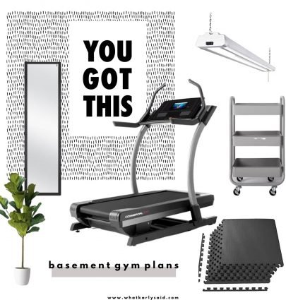 plans for our basement gym