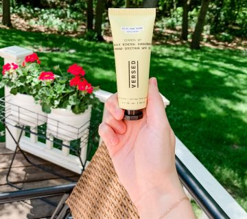 versed mineral sunscreen review