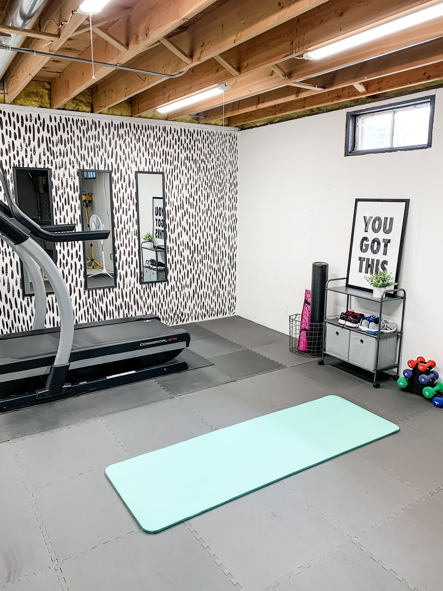 our basement gym