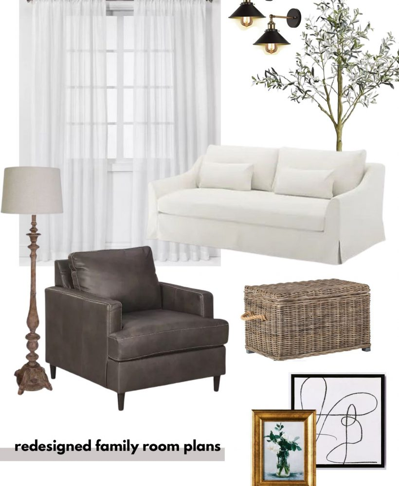 Redesigned Family Room Plans
